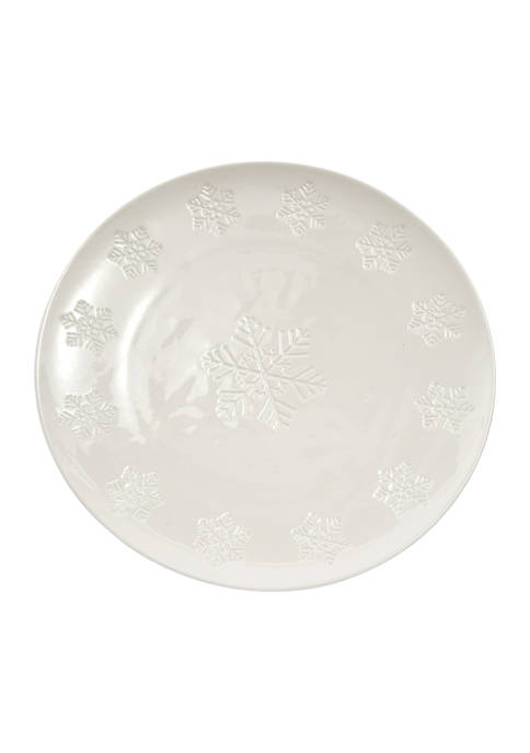 Snowflake Ceramic Dinner Plate