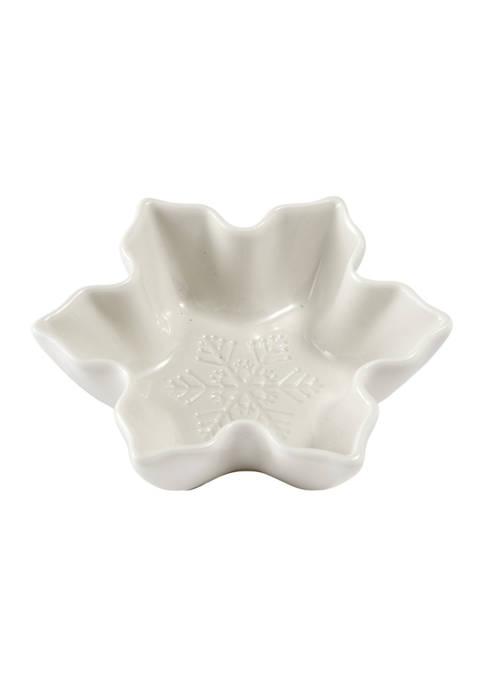 Snowflake Ceramic Leaf Platter