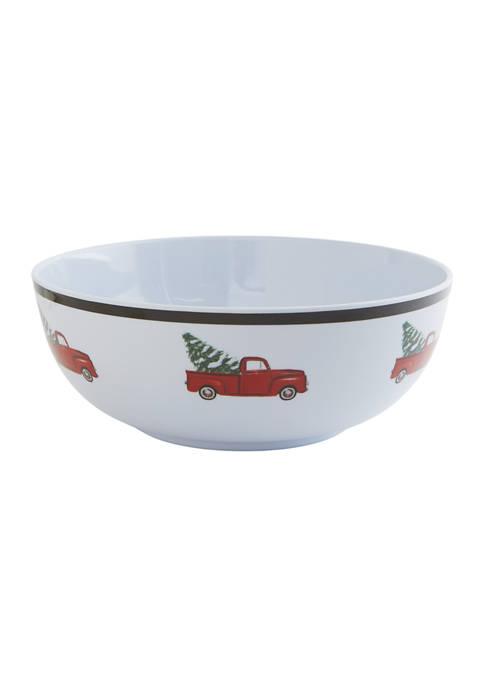 Holiday Pickup Truck Serving Bowl