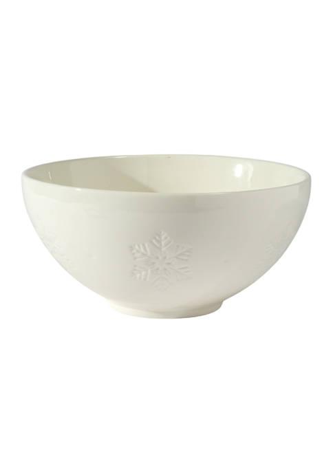 Snowflake Ceramic Serving Bowl