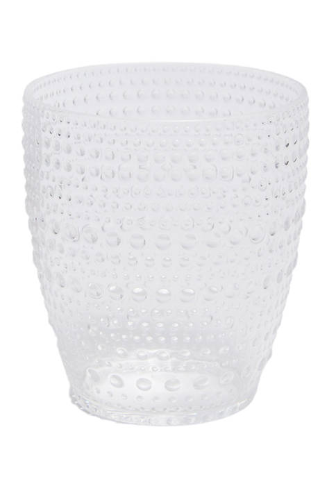 Clear Double Old-Fashioned Bubble Glass
