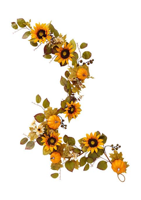 6 Foot Sunflower Garland