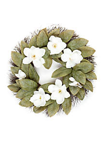 Magnolia and Twig Wreath