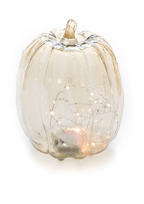 Modern. Southern. Home.™ Glass Pumpkin with Light