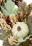 Faux Oak Pine Cone Pumpkin Basket
