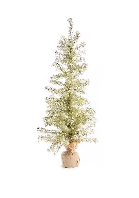 30 in Gold Burlap Tree