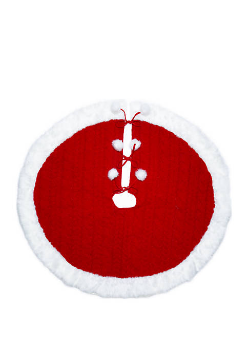48 in Red Knit Tree Skirt