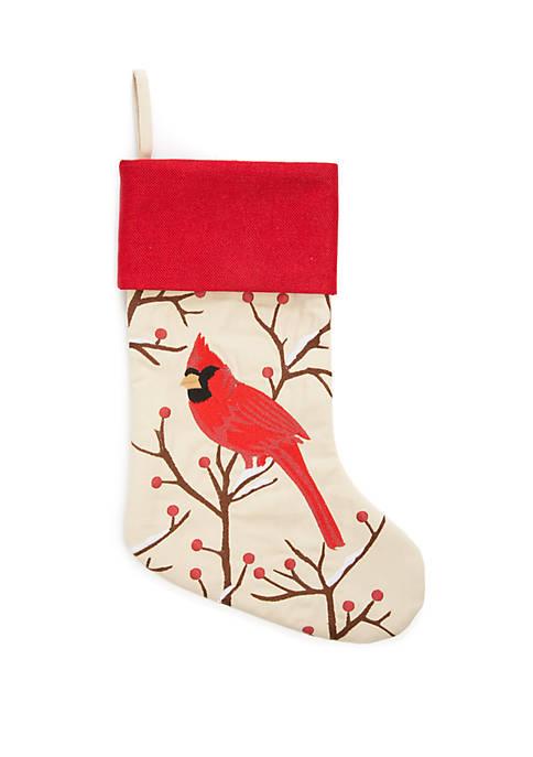 Cardinal Tree Stocking