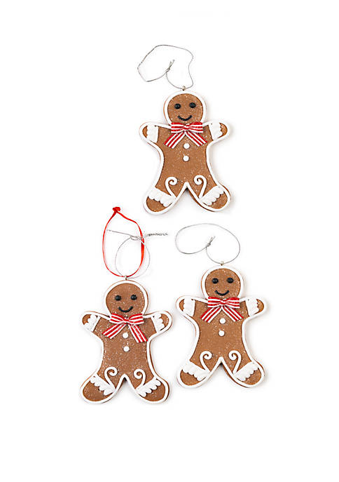 Christmas Traditions Set of 3 Gingerbread Boy Ornaments