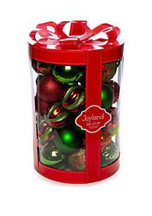 Joyland 45 Count Red & Green Ornament Set