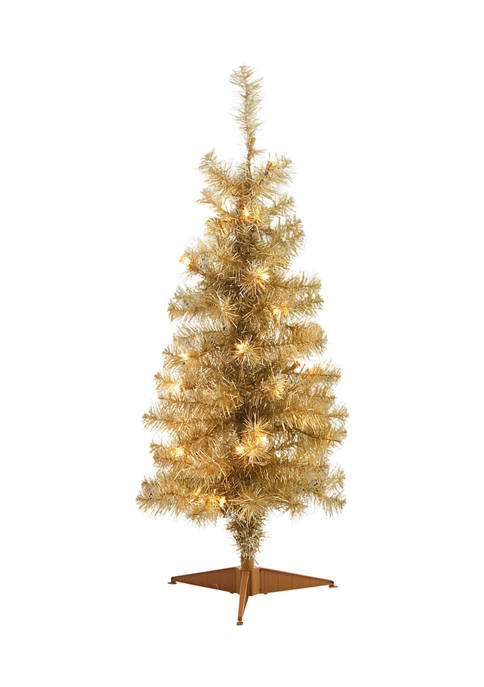 Joyland 4-Foot Pre-Lit Artificial Christmas Tree