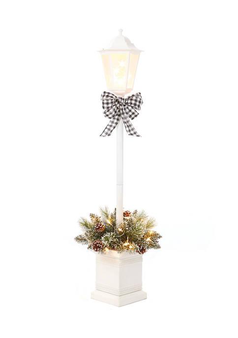 Joyland 4 Foot Pre Lit White Lamp Post