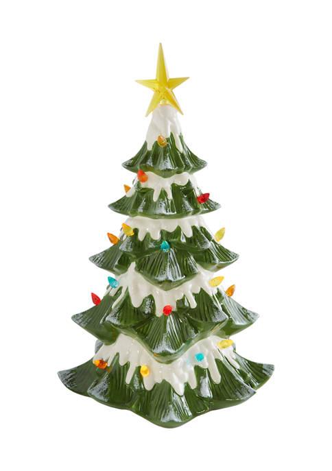 Retro Christmas Tree Figurine