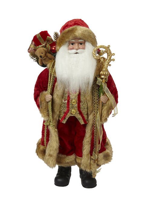 Red and Gold Santa Figurine