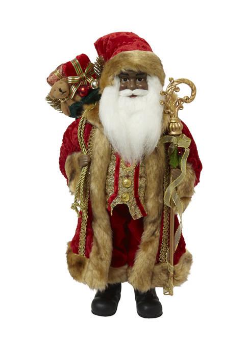 Joyland Red and Gold Santa Figurine