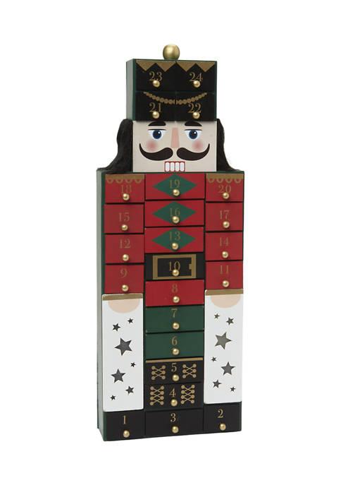 Nutcracker Advent Decorative Piece