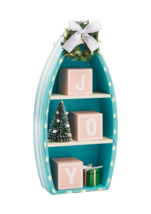 Lighted Joy Boat Decorative Accent