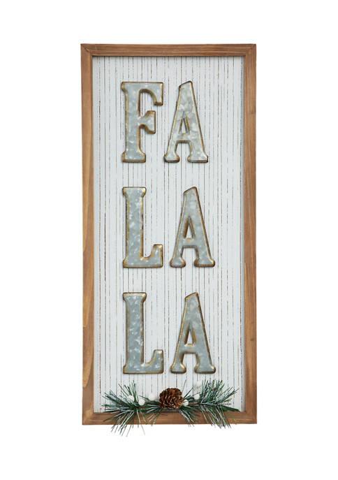 Fa La La Wall  Sign