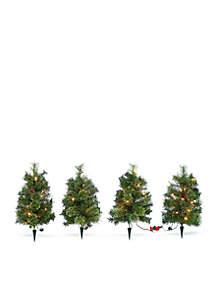 Set of 4 Cashmere Tree