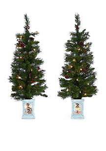 Set of 2 3.5 ft Porch Trees