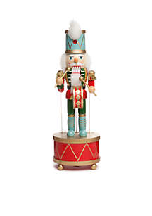 Christmas Past 14-in. Wind up Nutcracker with Drum