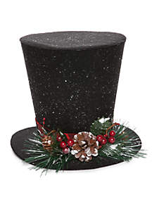 Cozy Christmas Top Hat Tree Topper