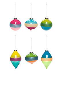 Merry & Bright Set of 6 Glitter Bulbs