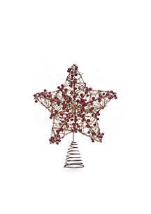 Cozy Christmas Twiggy Star Tree Topper