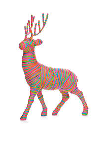 Merry And Bright Standing Yarn Deer