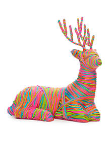 Merry And Bright Lying Yarn Deer