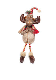 Cozy Christmas Moose Table Sitter