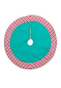 Christmas Past Mini Stripe Tree Skirt