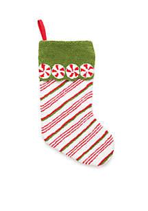 Christmas Past Stripe Stocking