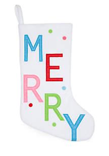 Merry & Bright Merry Stocking