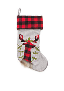 Cozy Christmas Reindeer Stocking