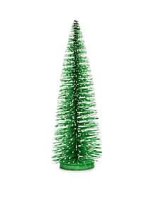Christmas Past Green Bottle Brush Tree