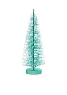 Christmas Past Turquoise Bottle Brush Tree