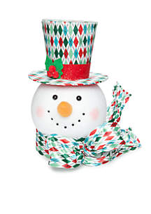 Christmas Past Snowman Tree Topper