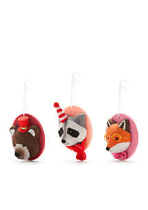 Merry & Bright Set of 3 Faux Animal Heads