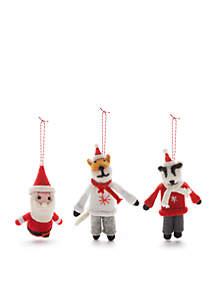 Cozy Christmas 3-Piece Felt Ornament Set