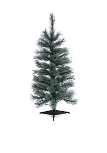 3' Pre-Lit Christmas Tree with Silver Glitter
