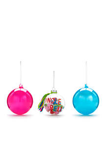 Merry & Bright Set of 3 Ball Ornaments