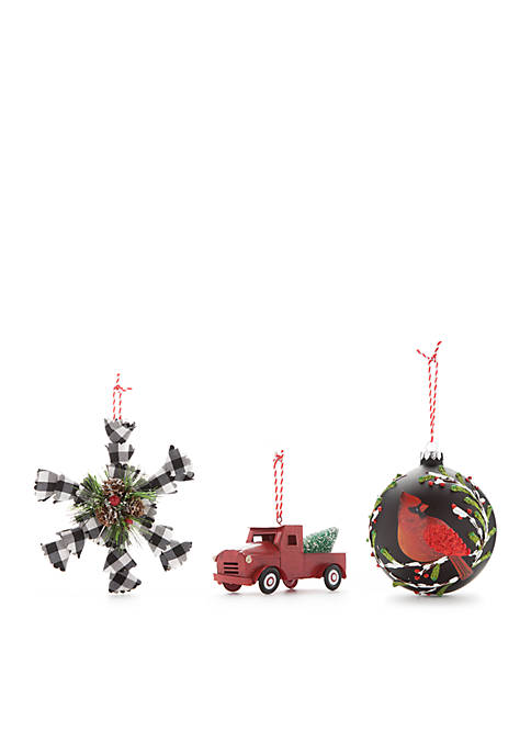 Modern. Southern. Home.™ Cozy Christmas 3-Piece Ornament Set