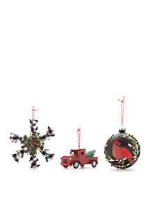 Cozy Christmas 3-Piece Ornament Set
