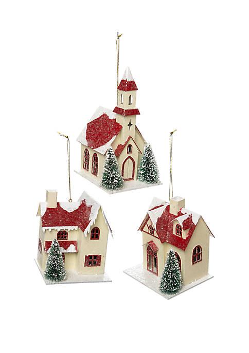 Joyland Woodland Winter Paper House Set