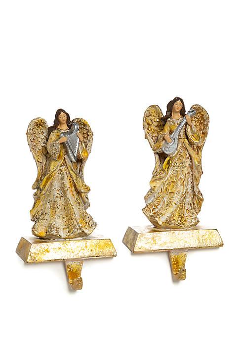 Tidings of Joy Set of 2 Angel Stocking Holders