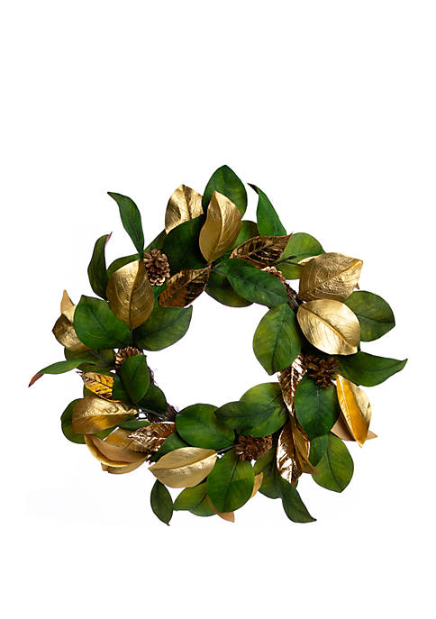 Tidings of Joy Magnolia Wreath
