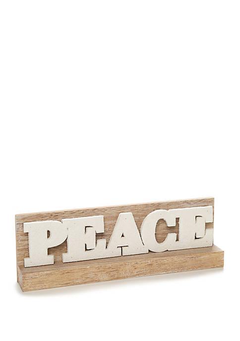 Seas & Greetings Peace Wood Décor