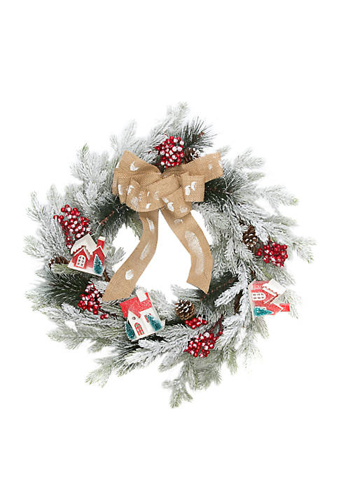 Joyland Woodland Winter House Wreath