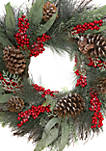 Woodland Winter Frosted Berry Wreath